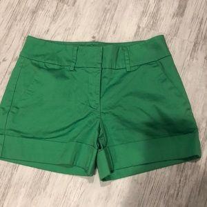 Green Dressy Shorts